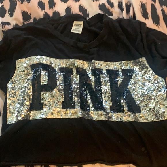 PINK Other - Pink half shirt med_large